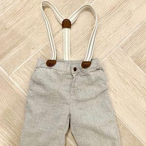 Janie & Jack pants with suspenders